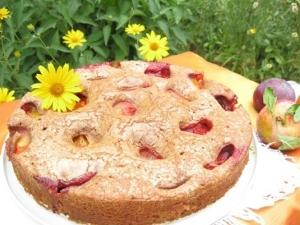 Сливовый пирог с шоколадом