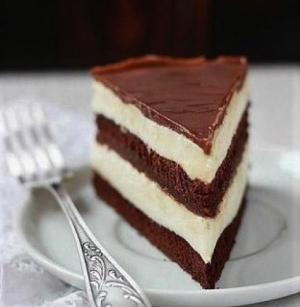 Шоколадный бисквитный торт со сметанным кремом