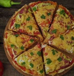 Простая пицца на сковороде за 10  минут
