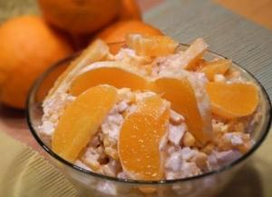 Салат восторг гостей с апельсином