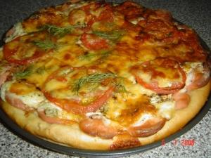 Экспресс - пицца на сковороде.