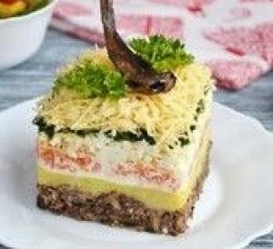 Салат шпротинка